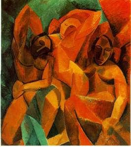 PabloPicasso-Three-Women-1907-08