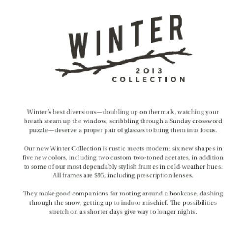 Style Me Exclusive Warby Parker 2013 Winter Collection Hottest Frames Fashion Forbes