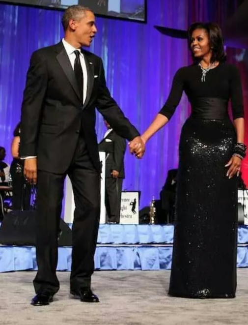 Loving this all black number on Michelle Obama.