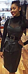 Vintage Leather Peplum Dress