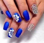 Floral Studded Blue.