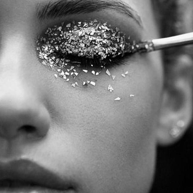 Image result for white glitter eyeshadow